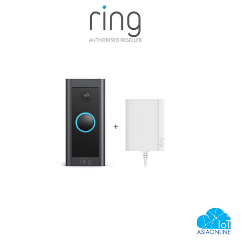 Wi-Fi - Ring Video Doorbell Wired with Plug-in Adaptor