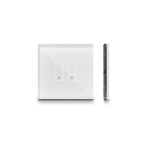 Wi-Fi - IOTTY - 2 Gang Smart on/off Switch - White/Black (E2)