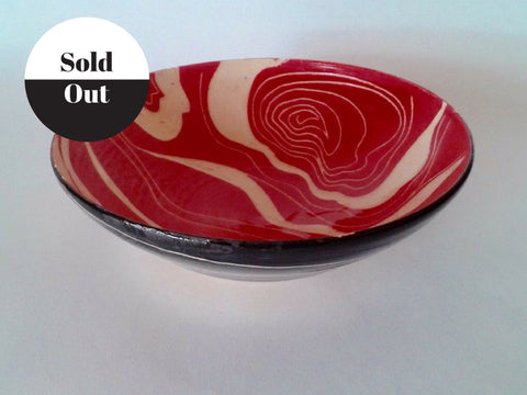 Red Ceramic Hand Made Bowl from Rebecca English.
