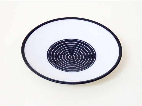 Handthrown Ceramic designer saucer. Perfect as a functional item or a statement piece. Made in Cornwall by Ben Barker.