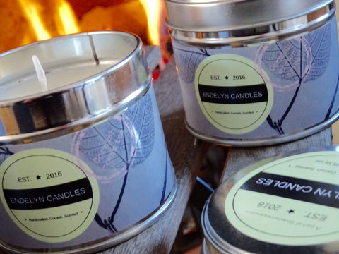 Bring home the scent of the Cornish coast or a Cornish cream tea with these soy wax hand made scented candles.