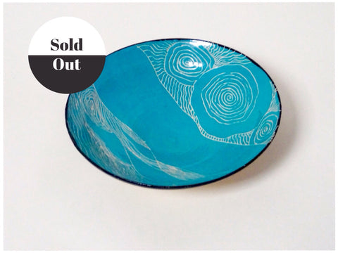 Unique and beautiful ceramic hand painted bowl from Cornish artist Rebecca English.