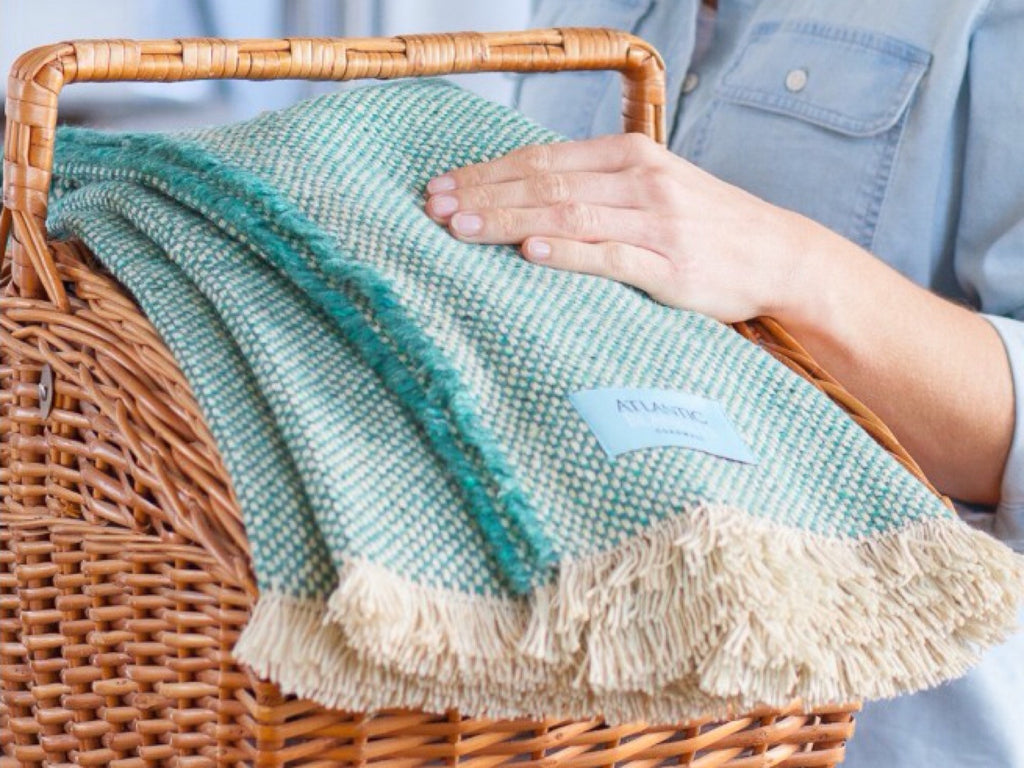 Sea Green Recycled Picnic Blanket