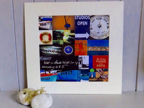 Mounted St Ives Photo Collage
