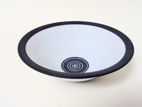 Large Handthrown designer monochrome ceramic bowl. Great as a functional item or as a designer piece for the home.