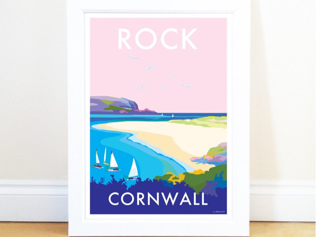Rock Travel Poster and Seaside Print