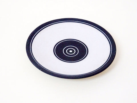 Add a dash of modern design to your Homeware with this handmade monochrome saucer from Ben Barker.