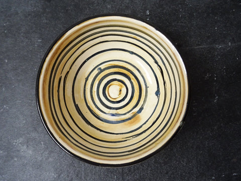 Beautiful provincial style handmade ceramic bowl. Made in Cornwall by Laetitia Miles.