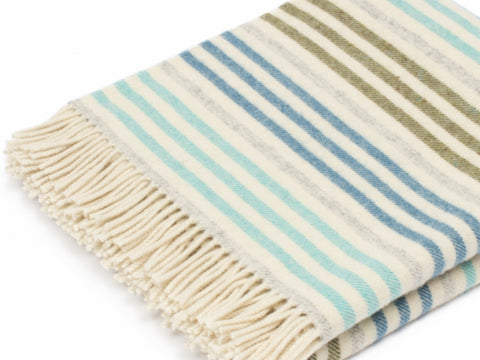 Coastal Stripe Wool Throw for your living room or bedroom.