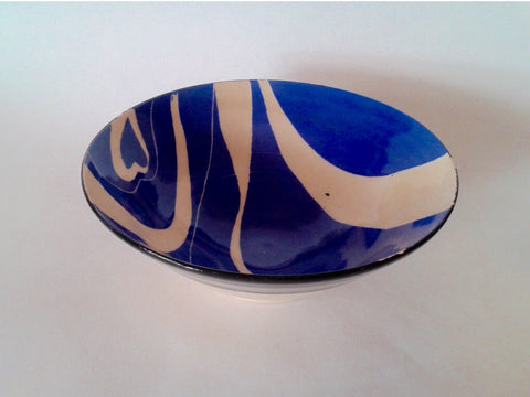 Blue Ceramic Hand Made Bowl