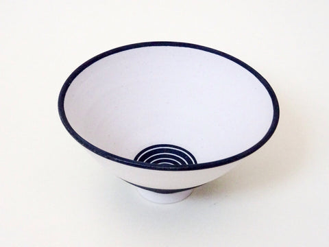 Beautiful handmade ceramic monochrome bowl, perfect as a statement piece or for more functional use.