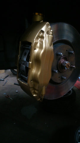 evo 8 gsr calipers painted gold