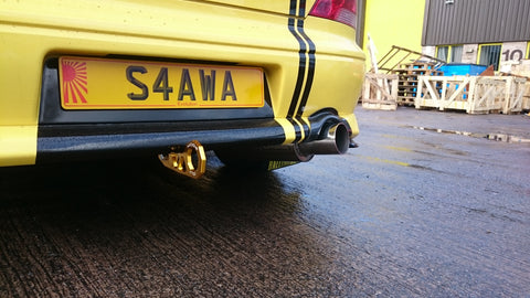 evo 8 gsr custom exhaust rear view