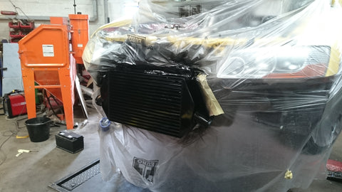 Evo 8 gsr intercooler painted black