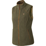 Harkila Sandhem Lady Fleece Waistcoat - Dusty Lake Green Melange