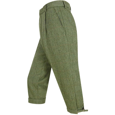 Hoggs Of Fife Helmsdale Tweed Breeks - Green