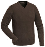 Pinewood Finnvedan V-Neck Jumper - Brown Melange