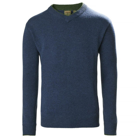 Musto Shooting V-Neck Knitted Jumper - Dark Cobalt