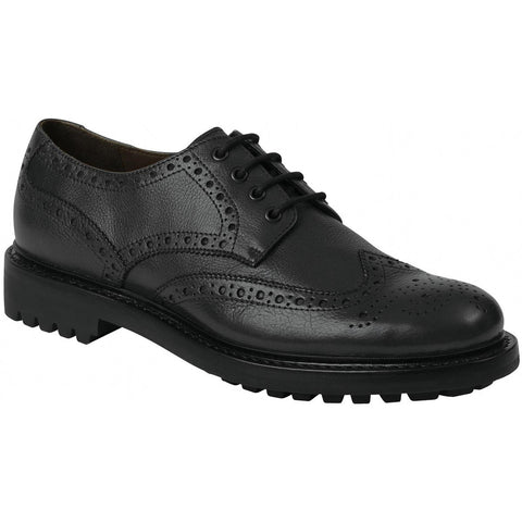 Hoggs of Fife Prestwick Brogues - Black