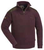 Pinewood Hurricane Sweater - Dark Burgundy Melange