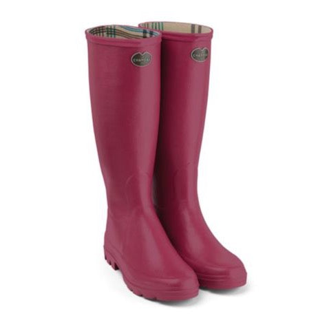 Le Chameau Women's Iris Jersey Lined Wellington Boots - Rose