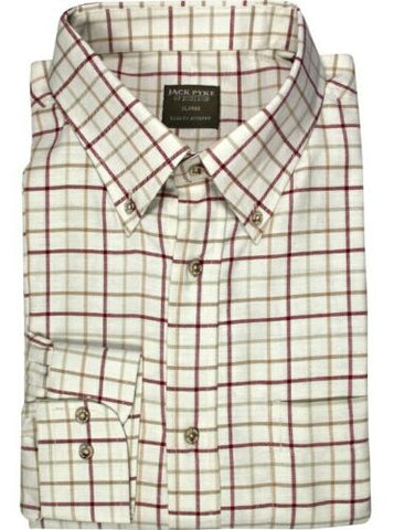 Jack Pyke Countryman Shirt - Burgundy Check