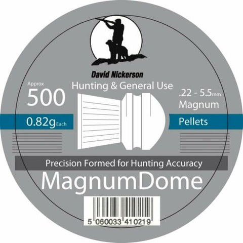 David Nickerson Magnum Dome .22 Airgun Pellets