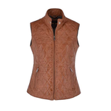 Brampton London Ladies Leather Quilted Gilet