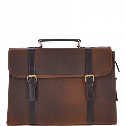 Ashwood Walter Cow Oily Leather Briefcase