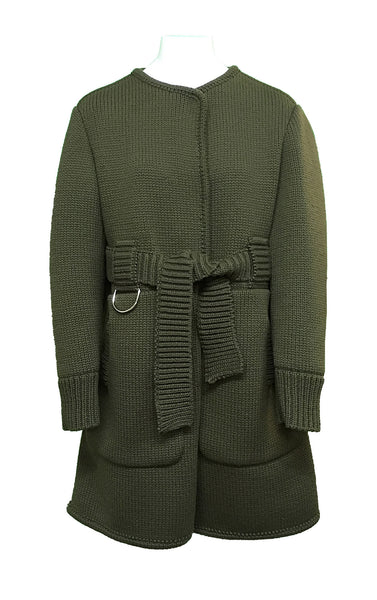 Veronique Leroy - Knitted Knee Coat Belted