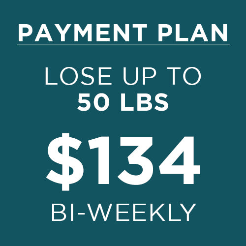 payment plan lose up to 50 lbs for 134 every two weeks