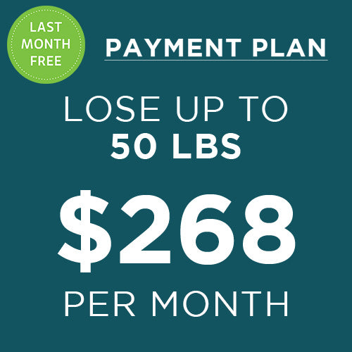 6 month weight loss program payment plan with last month free