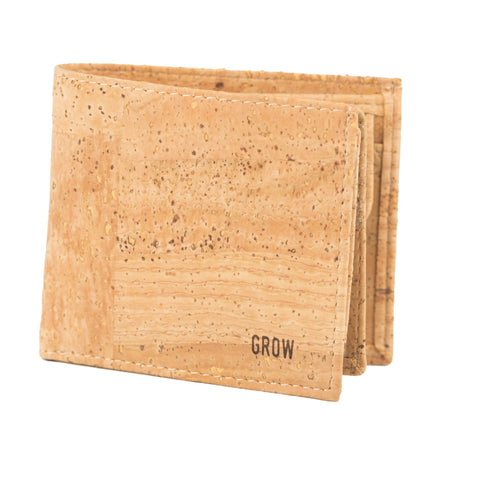 Grow's Quercus Texana Cork Wallet for Man