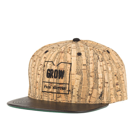 Grow's Quercus Cork Snap-back Hat New York