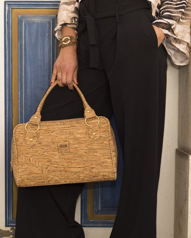 Cork Satchel Handbag