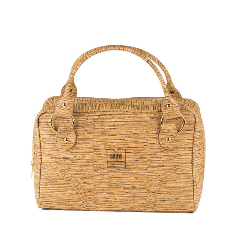 Grow's Dentata Cork Satchel Handbag Lines