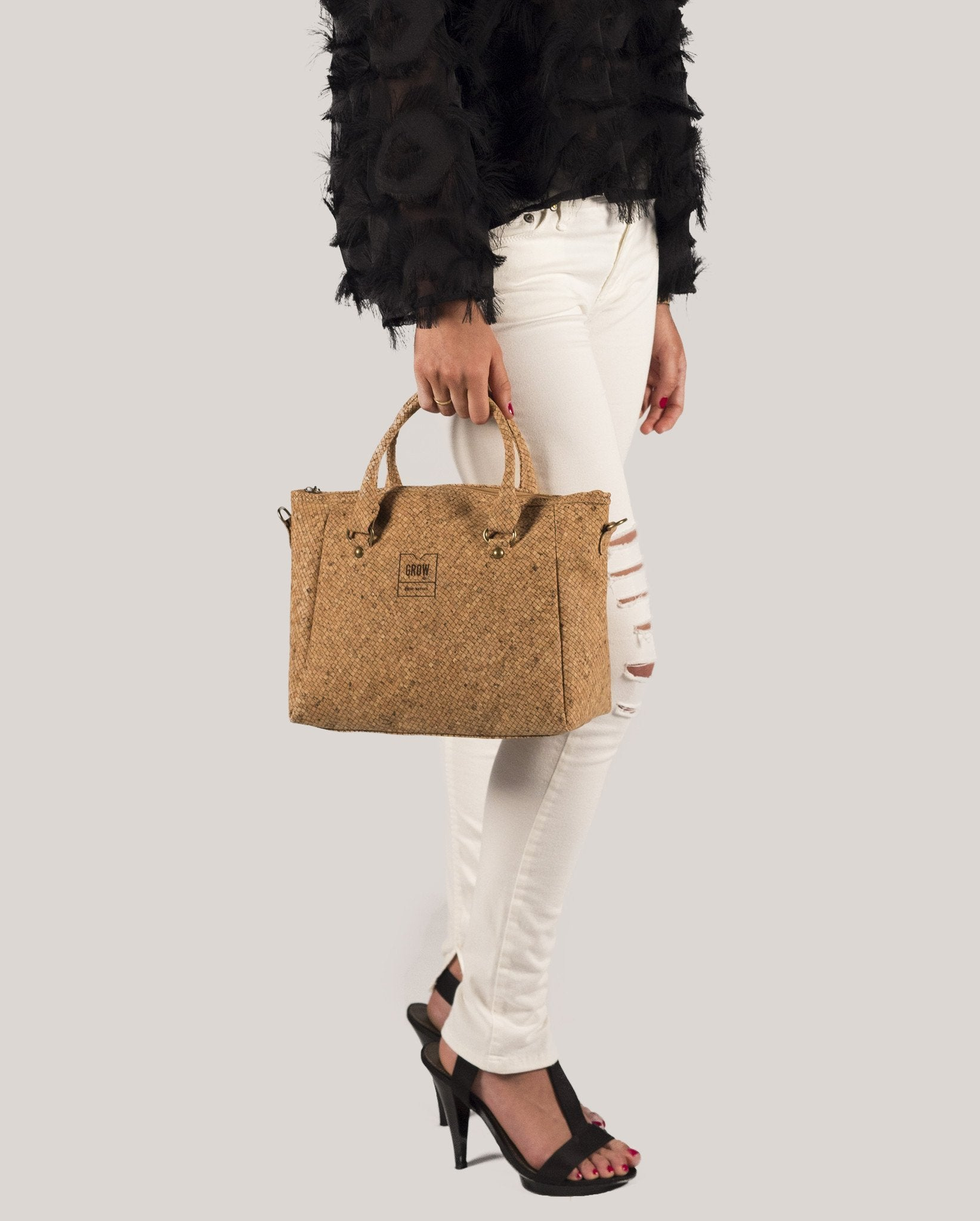 Serrata Crossbody Handbag | Lines - Grow From Nature