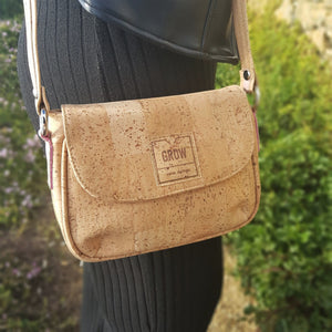 Cork Crossbody bag, Cork bag, Natural fabric, vegan bag, handbags, Organic,  made in Portugal