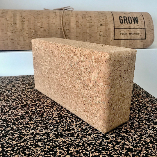 Yoga blocks made of Cork, Yoga Products, Vegan, made in Portugal
