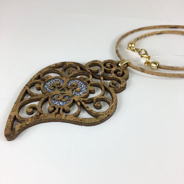 Filigree Collection | Heart Cork Necklace