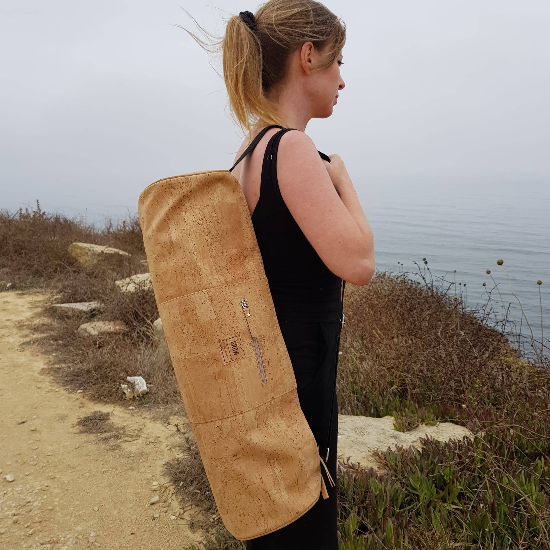 Cork Yoga Mat Bag, Handmade in Portugal, Sustainable fabrics