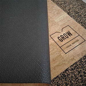 Cork mat, Natural rubber, Yoga, cork fabric, High Quality, made in Portugal