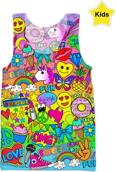 """Glamour and Glitter"" Kids Tank Top"