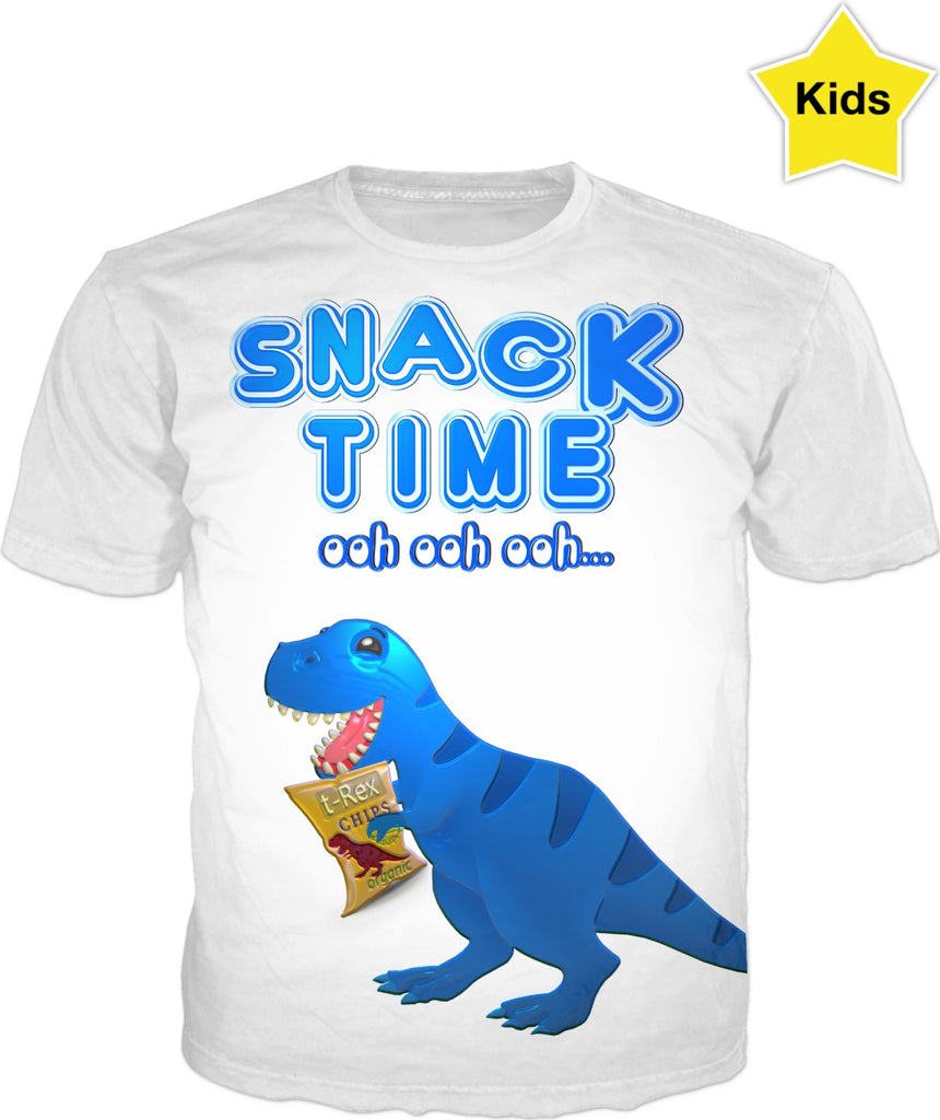 Snack Time ooh ooh ooh Chip The T-Rex Kids Shirt