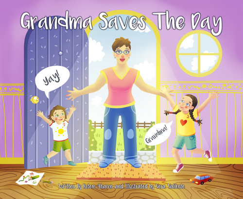 Grandma Saves The Day Book Printed Soft Cover - Free Shipping