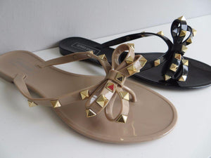 Jelly Sandals - Black and Beige Colors - Free Shipping