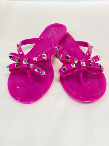Pink Jelly Sandals - Free Shipping