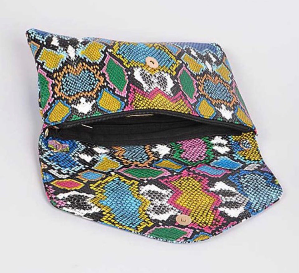 Multi color python printed convertible envelope
