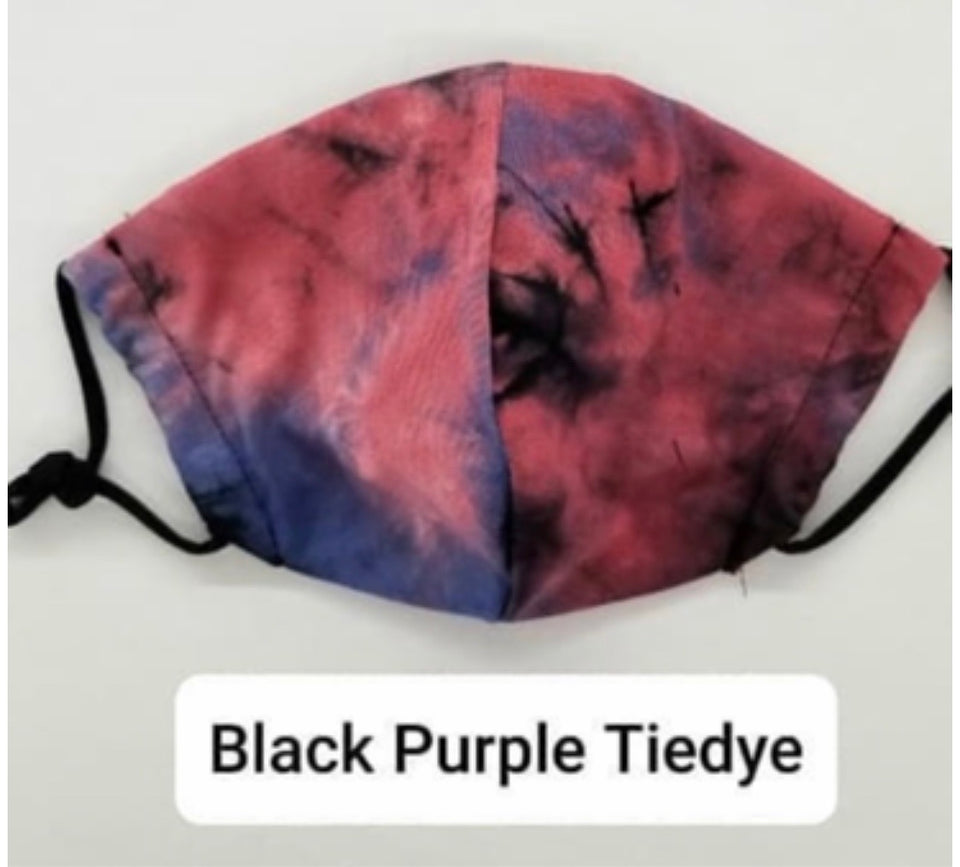 Black Purple Tye Dye Washable Veil