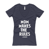 Mom Life Slogan Shirt Women's V-Neck